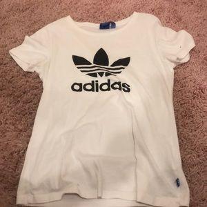 plain white adidas shirt